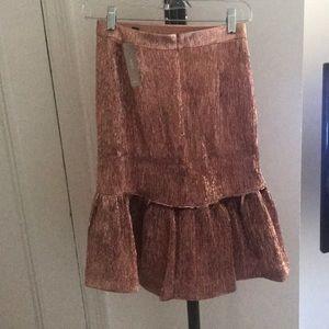 Jcrew Ross gold foil skirt